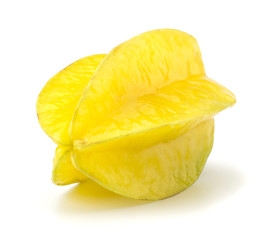 Carambola - starfruit isolated on white background