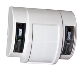 a simple white motion detector is installed