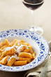 Dish of pumpkin gnocchi