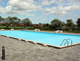 Swimming pool in a resort on a Danish island Bornholm