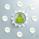 Big Eco Gear With Green Leaves 8 Options