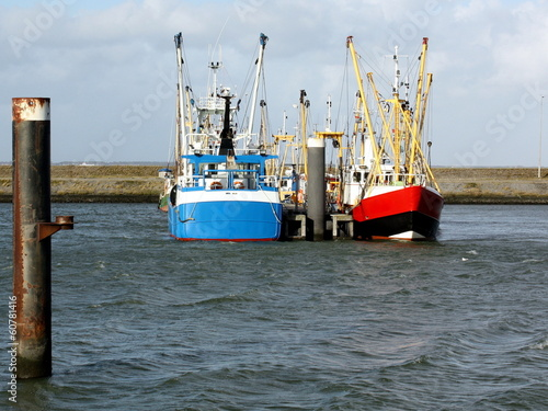 fishing boats in the harbour from Lauwersoog