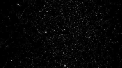 Snowfall (overlay white on black or alpha channel).