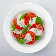 Classic caprese salad top view