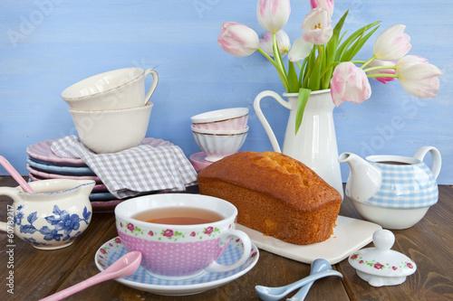 canvas print picture Tee und Kuchen