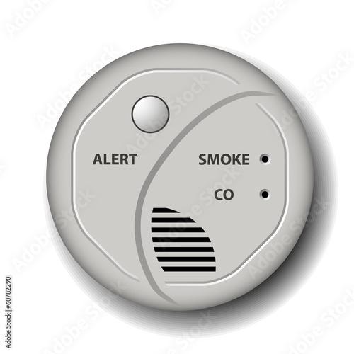 vector fire smoke carbon monoxide detector alarm - 60782290