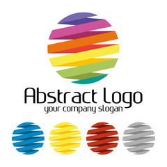 Abstract creative colorful logo