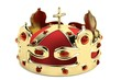 realistic 3d render of crown