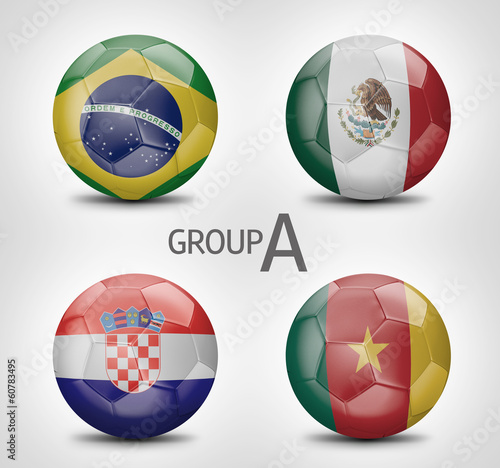 Group A - Brazil, Mexico, Croacia, Cameroon (Brazil 2014)