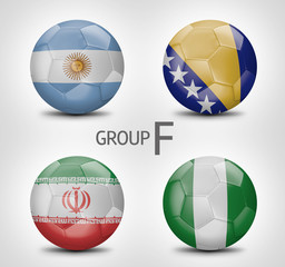 Group F - Argentina, Bosnia and Herzegovina, Iran, Nigeria