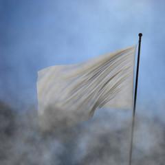 XXL white flag