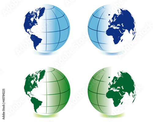 Colored hemispheres 3D