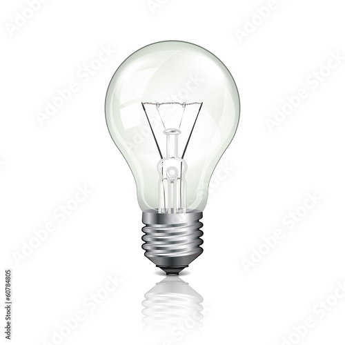 Light bulb vector illustration
