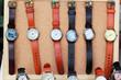 Handmade leather strap watch market.