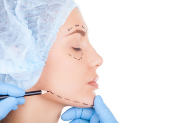 Preparing patient for surgery.