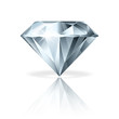 Diamond isolated on white vector illustration - 60785469
