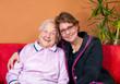 canvas print picture - Großmutter mit Enkelin