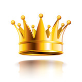 Glossy golden crown vector illustration