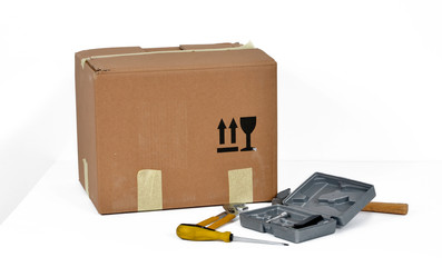 box and tools