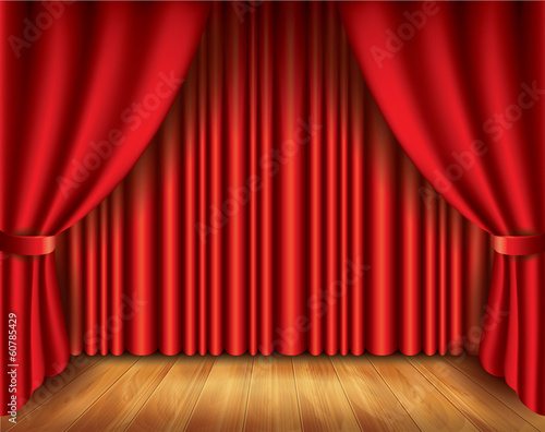 Red curtain vector illustration