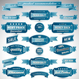 Set of business vintage labels