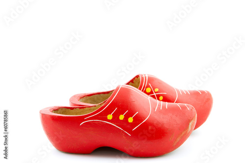 pair of wooden shoes for kids