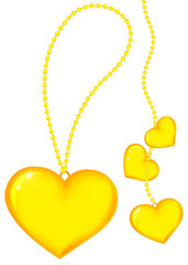 Gold heart on chain