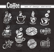 Coffee. Design elements on the chalkboard. - 60786451