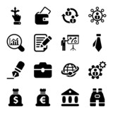 flat business iconset in black 2