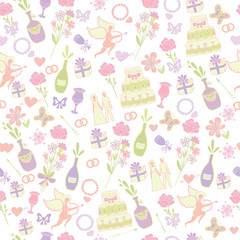 seamless wedding pattern (vector illustration)