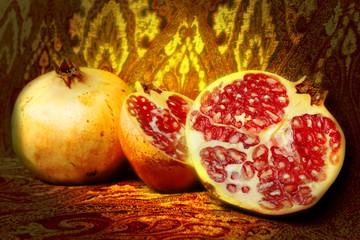 pomegranate still life