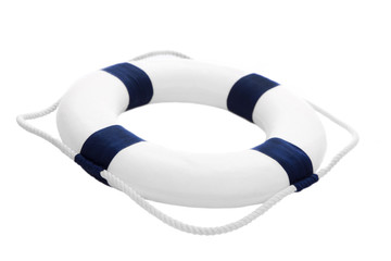 Rettungsreifen oder Rettungsring isoliert als Deko maritim