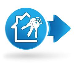maison à vendre sur symbole web bleu