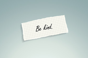 Be kind. Conceptual background.