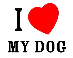 J'aime mon chien