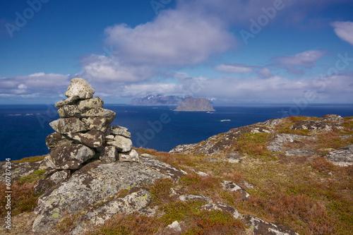 Aluminium Norwegian coast scenery