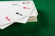 Cards and pack of playing cards.