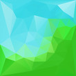 Natural green abstract Triangle Polygonal Background
