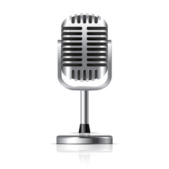 Retro microphone vector illustration