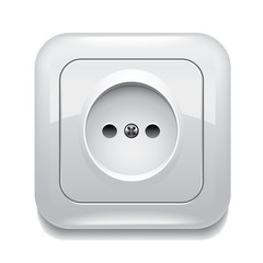 Socket isolated vector illustration