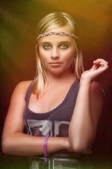 junge Dame - Portrait mit Farbverlauf