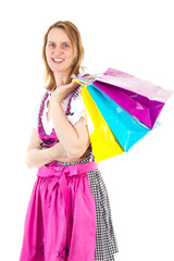 Alpine woman on shopping tour