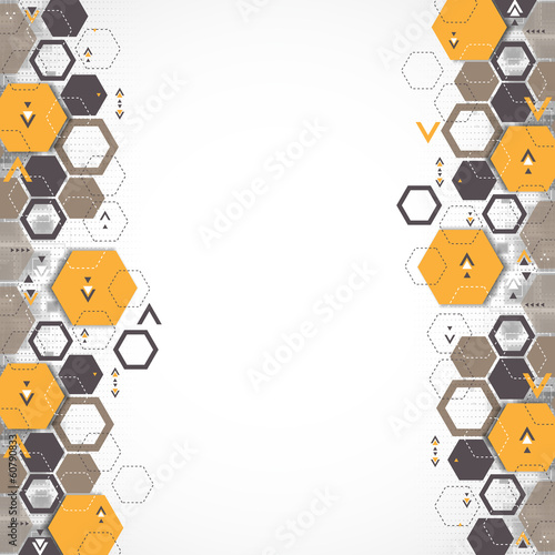 Abstract background with hexagonal shapes