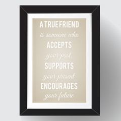 Funny quote about friendship. VECTOR illustration.