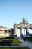 The lazy afternoon in Cinquantennaire Park,Brussels,Belgium
