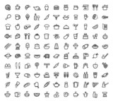 Fototapety vector food icons set