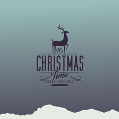 Typographic Vintage Christmas Design