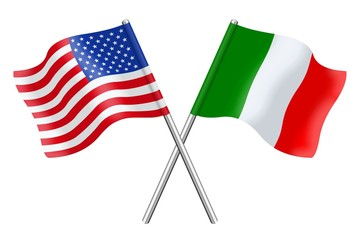 Flags: the United States and Italy