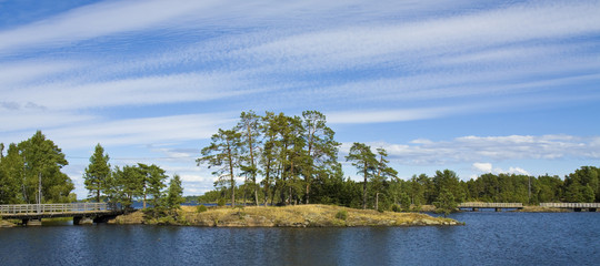 Landscape of Valaam island, Russia
