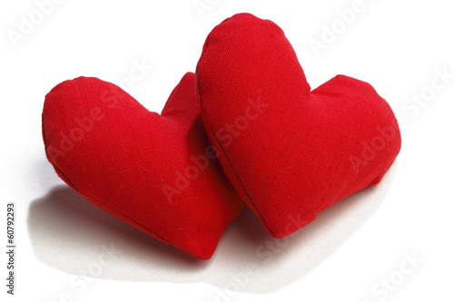 Valentines day fabric hearts